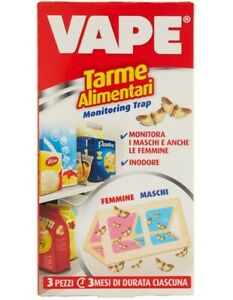 Vape Trappola Tarme Antitarme Alimentari 3pz