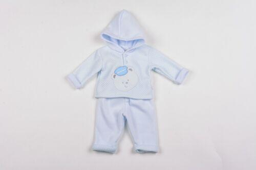 Baby Boy Clothes Haut à Capuche Pantalons Aardvark polaire bleu nouveau-nés 0-3 M 3-6 M