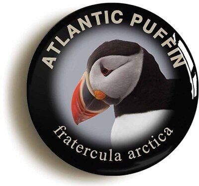 ATLANTIC PUFFIN FRATERCULA ARCTICA BADGE BUTTON PIN (1inch/25mm diameter) BIRD