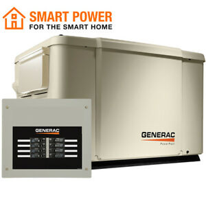 Generac 6998 - PowerPact 7.5/6kW Air-Cooled Standby Generator + 50A...