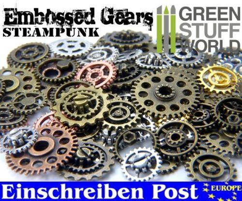 Perlen Steampunk-Sets & Zahnräder mit SCHRAUBEN VERNIETET für Bastler - 85 gr