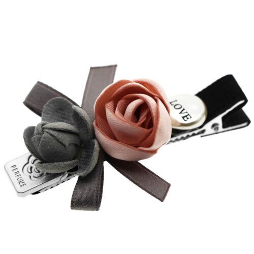 Deux roses gris /& rose love strass fille bébé diapositive pince à cheveux accessoires HA294