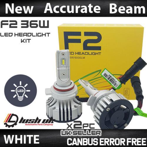 F2 9012 CANBUS ERROR FREE WHITE LED KIT 6500K MOT LEGAL ACCURATE BEAM PATTERN