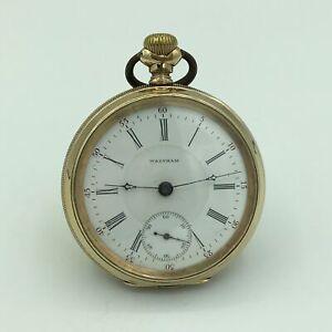 1898-Waltham-P-S-Bartlett-17J-Adjusted-GF-OF-Pocket-Watch-18s-No-8511698