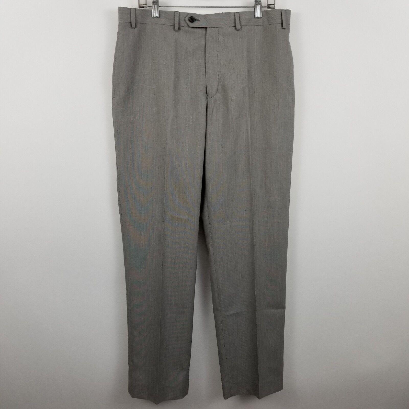 NWOT Ralph Lauren Washable Men's Light Tan Flat Front Dress Pants Size 36 x 32
