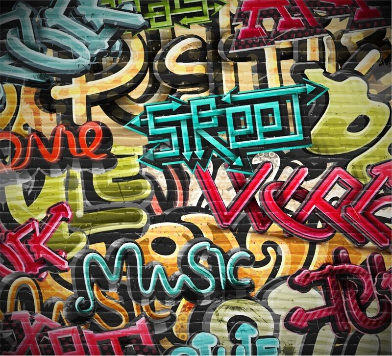 3D Graffiti Words 990 WallPaper Murals Wall Print Decal Wall Deco AJ WALLPAPER