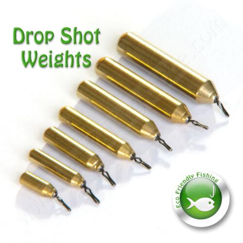 Brass Drop Shot Weights Finesse Sinker Pensil LRF Pike Perch Chub Fishing