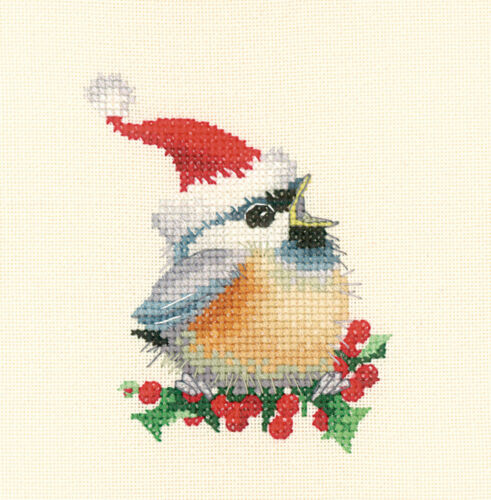 Heritage Crafts Chickadee Christmas Chick Cross Stitch Kit