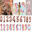40-034-Rose-Gold-Number-Large-Foil-Helium-Balloon-Wedding-Birthday-Party-Decor-Cute thumbnail 2
