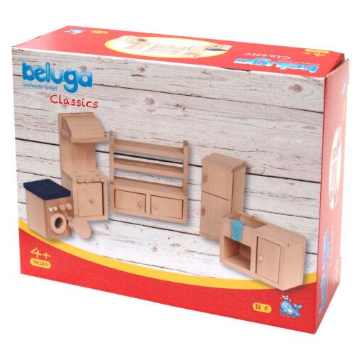 Küche Puppenhausmöbel Waschmaschine Herd Ofen Spüle Schrank Beluga 5teiliges Set