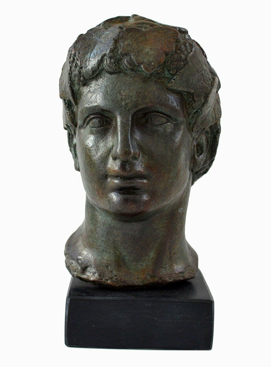 Dionysos bust with bronze Farbe effect - Dionysus God of wine and ecstasy