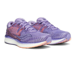 Saucony Womens Liberty ISO 2 Running Shoes Trainers Sneakers Purple Sports