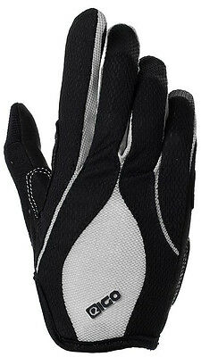 Mtb Cycling Cycle Bike Bicycle Bmx Full Finger Gloves Grey Stabile Konstruktion