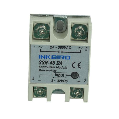 Relé De Estado Solido Ssr inkbird 40DA Para Controlador De Temperatura Pid nuevo 24-380VAC