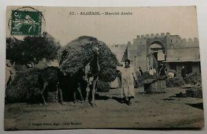 487-Antica-Cartolina-Algeria-Marche-Arabo