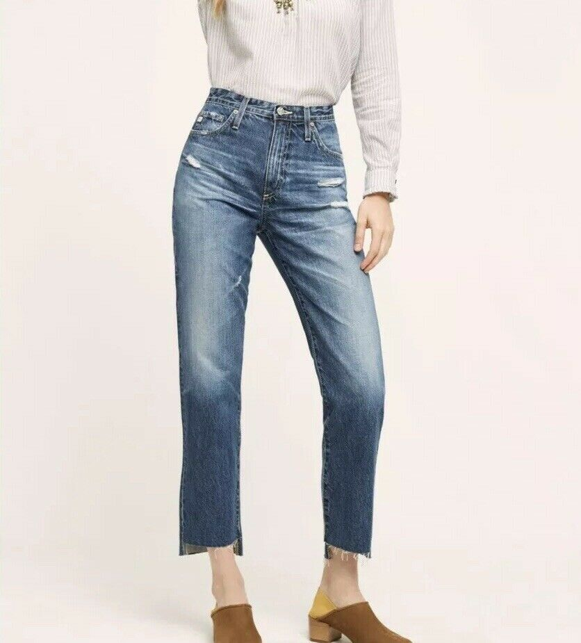 AG-Nouvelle Robe Anthropologie Phoebe Ultra High Rise AGED taperot jeans-Größe 32