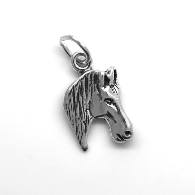 Horse Pony Head Charm Pendant STERLING SILVER