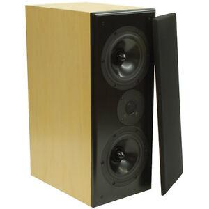 Dayton-Audio-RS722M-MTM-Speaker-Pair-Maple-New-in-Box