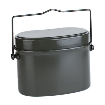 Portable Aluminum Camping Lunch Box Army Soldier Mess Tin Kit Canteen Kettle