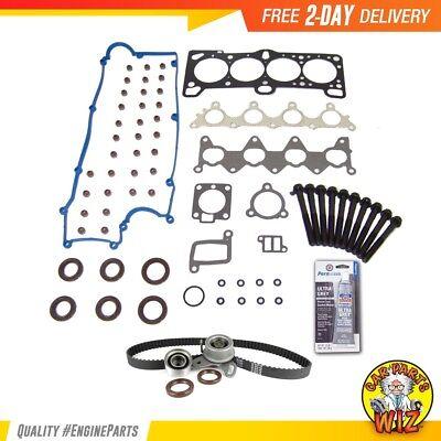 98 Head Gasket Set Timing Belt Kit Fits 99-02 Daewoo 1.6L DOHC 16v VIN 6 Cu