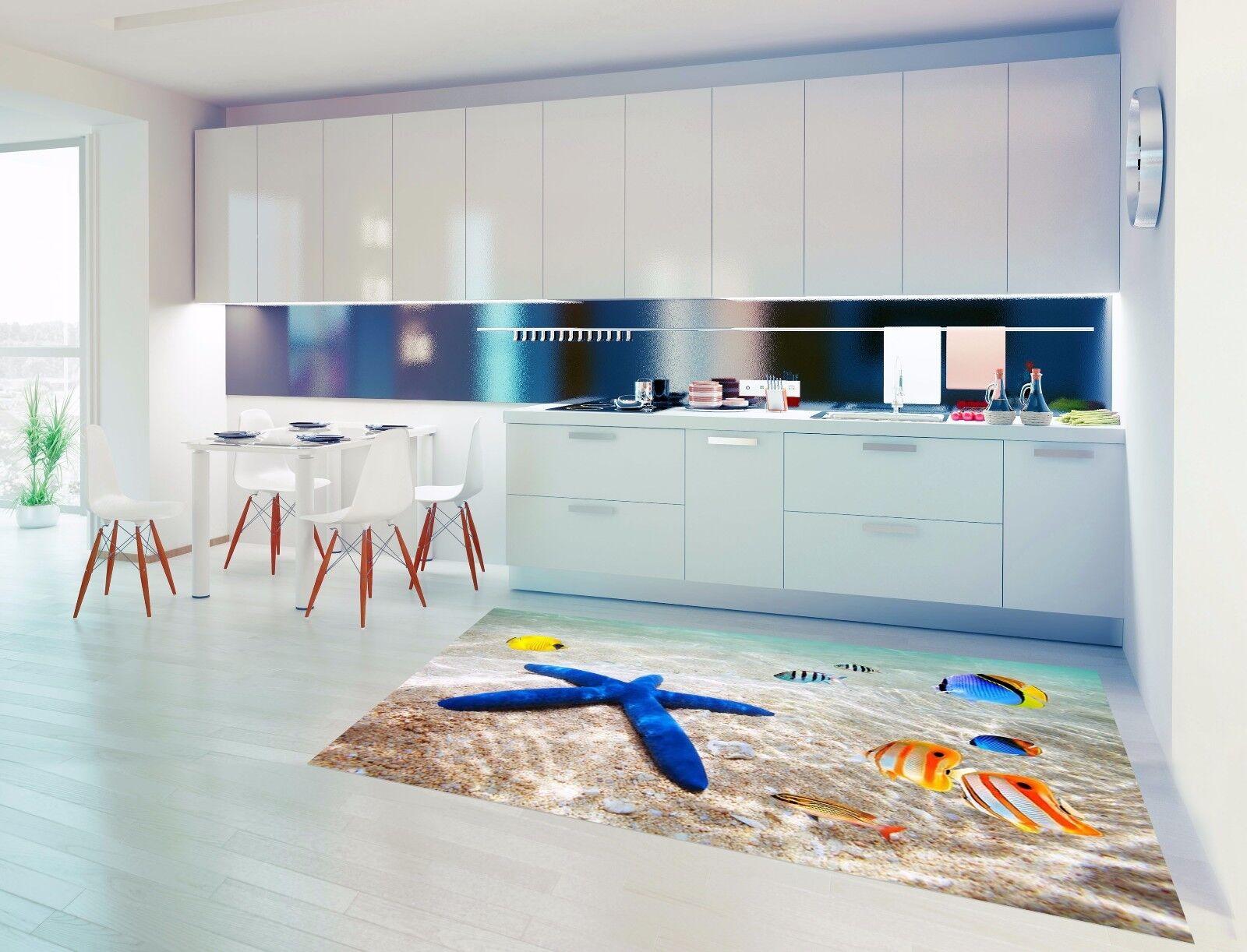 3D Sea Fish 75 Kitchen Mat Floor Murals Wall Print Wall AJ WALLPAPER UK Kyra
