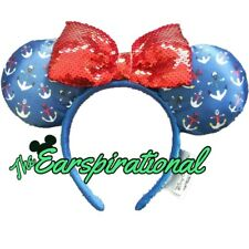 Children Popular Lovely Mickey Minnie Cartoon Red Bowknot Rabbit Ears Headband