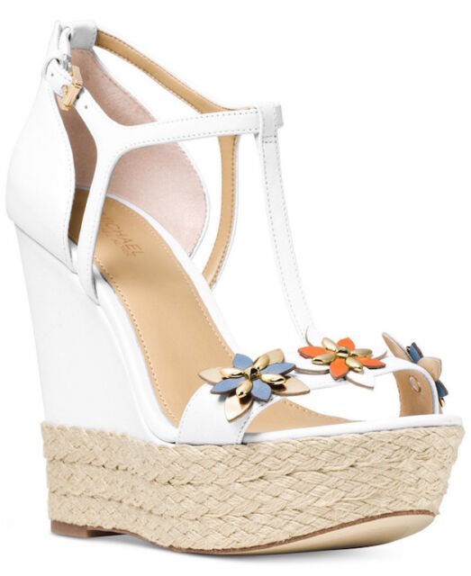 d59ffad6a38f Michael Michael Kors Heidi Wedge Sandal Size 9.5m in Optic White for ...
