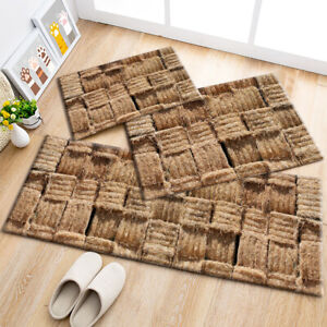 Image Is Loading Autumn Rustic Straw Pattern Area Rugs Kitchen Bedroom