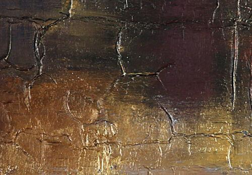 ABSTRAKT GOLD BUNT KUNST Wandbilder xxl Bilder Vlies Leinwand a-A-0451-b-e