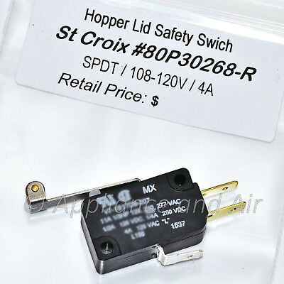 St Croix Hopper Lid Switch 80P30268-R Instructions/Wiring Diagrams on