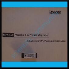 Lexicon MPX-500 firmware OS upgrade: version 2.02