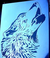 High Detail AEROGRAFO stencilwolf Howling GRATIS UK Affrancatura