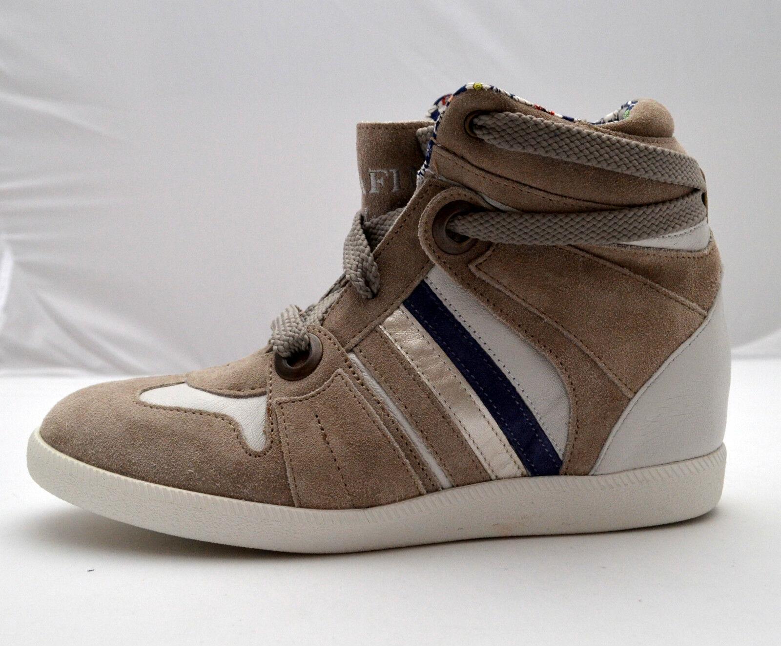 Serafini zapatillas de deporte alta interior de la piel zapatos Mujer Gris Cuña interior alta 20c66c