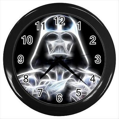 NEW* HOT DARTH VADER STAR WARS Black Round Wall Clock Room Decor Design Gift