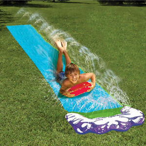 5-5m-18ft-Single-Kids-Inflatable-Water-Slide-Splash-Summer-Outdoor-Garde-a