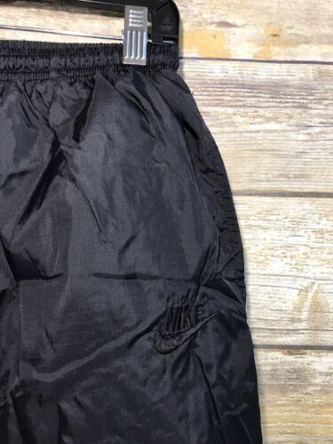 grande Nylon negras interior rayas rompevientos con forro Nike Vintage Pantalones a qvzgw4x