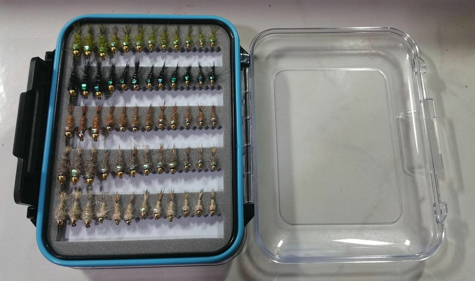 72 FB BH Hare's Ears W Fly Box Trout Wet Fly Fishing Flies US Veteran Owned