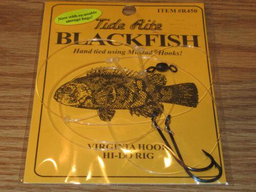12 BLACKFISH TAUTOG FISHING RIGS TIDE RITE R450 VIRGINIA HI-LO 2 HOOK RIG