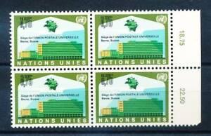 162326) Onu Genève 4 Erbl. Nº 18 ** Inauguration Upu Siège Conduire Un Commerce Rugissant
