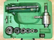 Greenlee Tool 12 2 Hydraulic Knockout 767 Pump 746 Punch Driver Set
