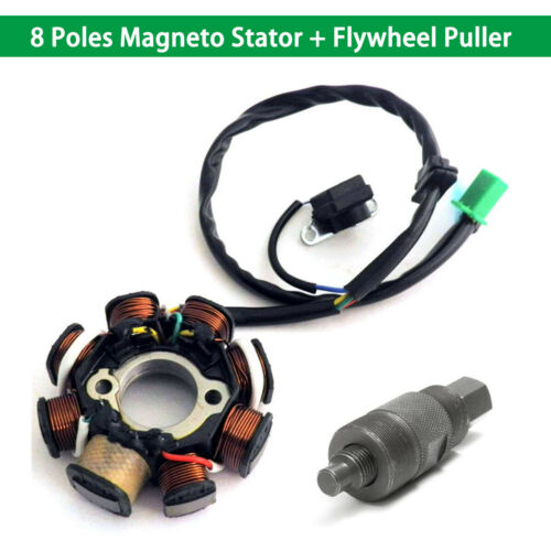 Stator Magneto 8 Coil Flywheel Puller 125cc 150cc ATV Scooter ATV Quad Pocket