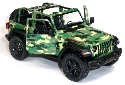 Jeep Wrangler Rubicon Modellauto ca.12,5 cm Military grün offen von Kinsmart