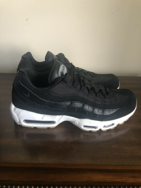 New NIKE AIR MAX 95 PREMIUM BLACK DARK GREY WHITE 538416 016 Size 11.5
