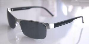 GIL-Design-Halbrand-Sonnenbrille-schwarz-silber-UV-400-NEU-x6