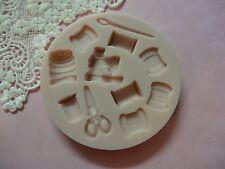 Sewing Box Set II silicone mold fondant cake decorating wax soap threads needle
