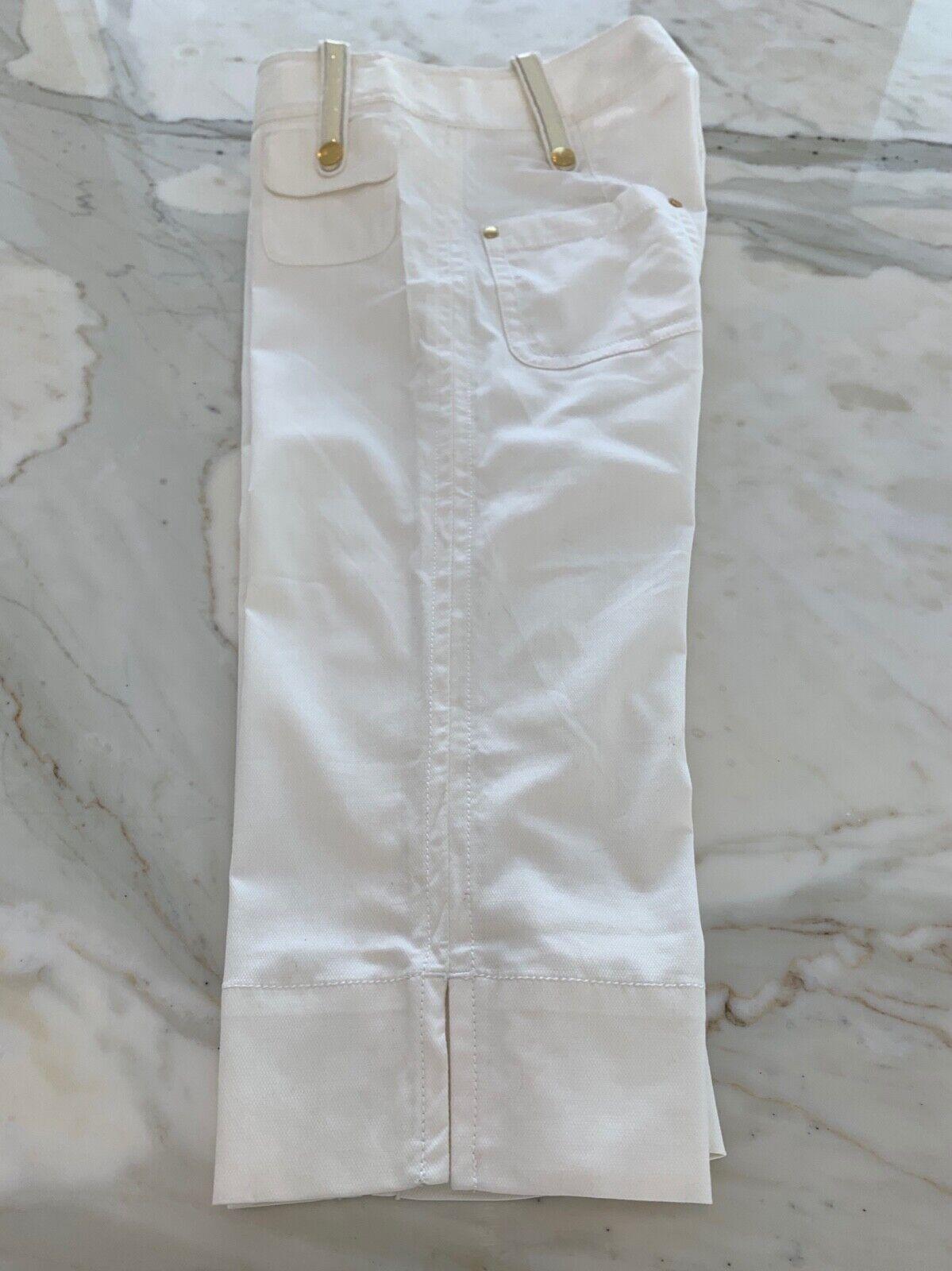 LaROK WHITE CAPRIS CROPPED PANTS SIZE 6