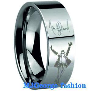 michael jackson ring tungsten carbide ebay