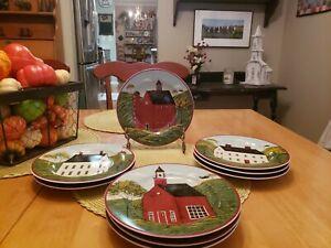 Brandon-House-by-Warren-Kimble-1998-Sakura-8-Inch-034-Country-Life-034-Salad-Dessert