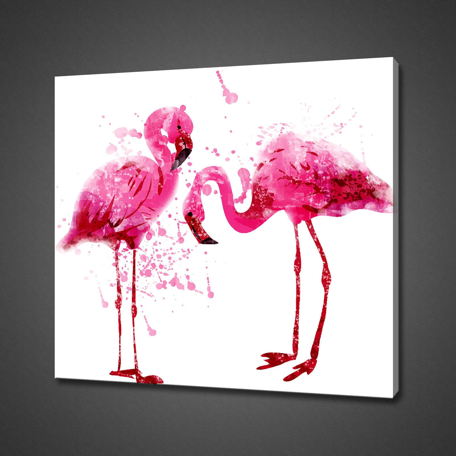FLAMANTS ROSES Abstrait Toile Photo Print Wall Art Home Decor livraison gratuite