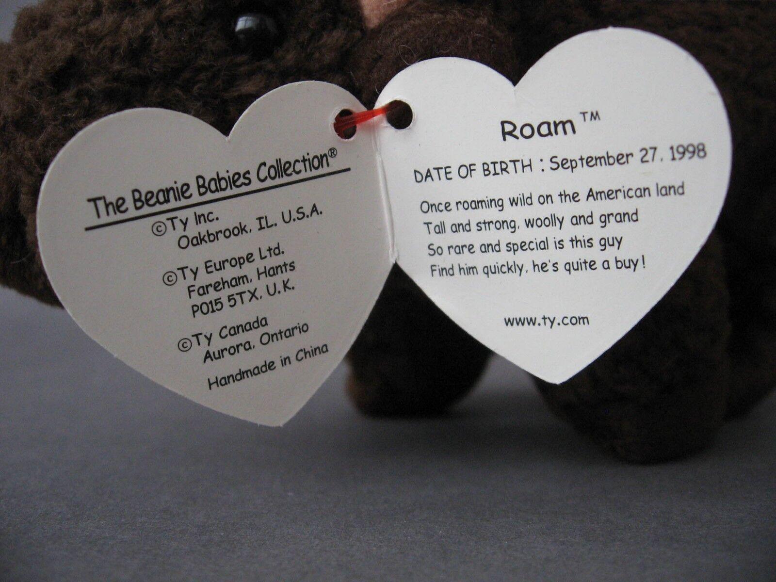 77b23398253 TY Beanie Babies Roam Buffalo Soft Toy Plush With Hang Tag ...